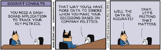 Dilbert analytics joke
