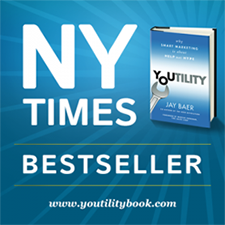 Jay Baer's Youtility is a NYTimes best seller